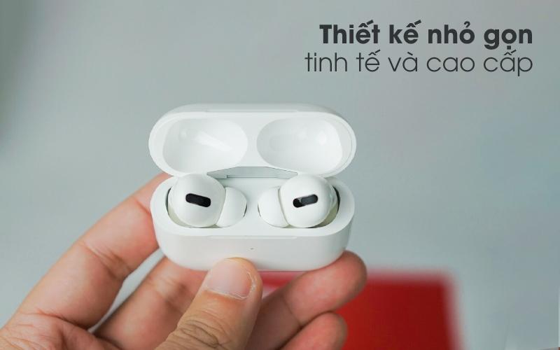 Thiết kế nhỏ gọn, tinh tế - Tai nghe Bluetooth Airpods Pro Apple