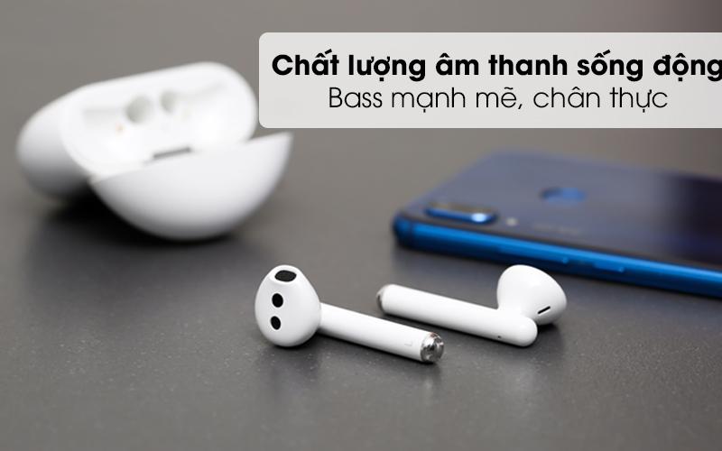 Chất lượng âm thanh sống động - Tai nghe Bluetooth TWS Huawei FreeBuds 3 Trắng