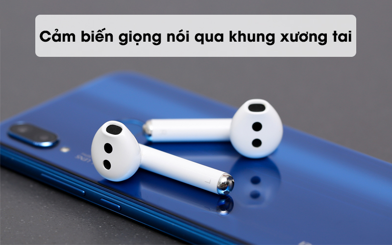 Cảm biết giọng nói qua khung xương tai - Tai nghe Bluetooth TWS Huawei FreeBuds 3 Trắng