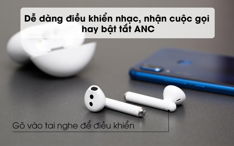 Dễ dàng điều khiển nhạc, nhận cuộc gọi và bật tắt ANC - Tai nghe Bluetooth TWS Huawei FreeBuds 3 Trắng