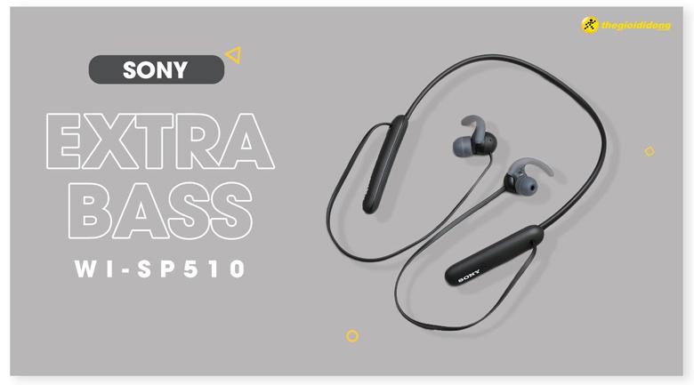 Tai nghe Bluetooth Sony Extra Bass WI-SP510/BZ E Đen