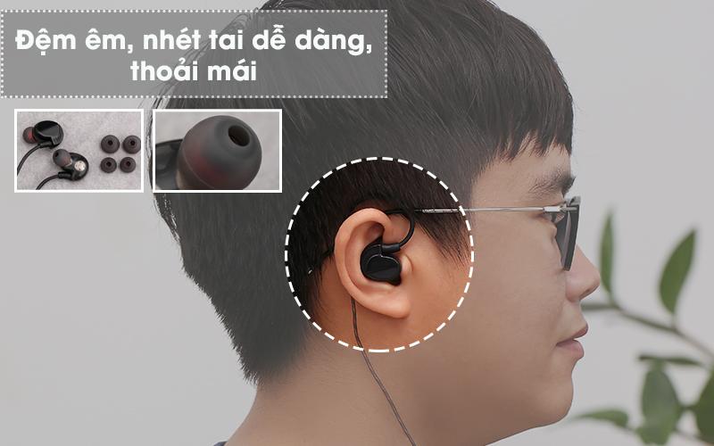 Tai nghe nhét tai EP Mozard S80 Đen - Nút đệm tai nghe có dây mềm mại
