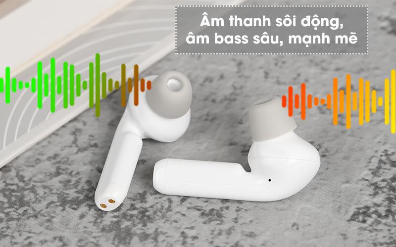 Tai nghe Bluetooth True Wireless Mozard AT15 Trắng - Trải nghiệm âm thanh trung thực
