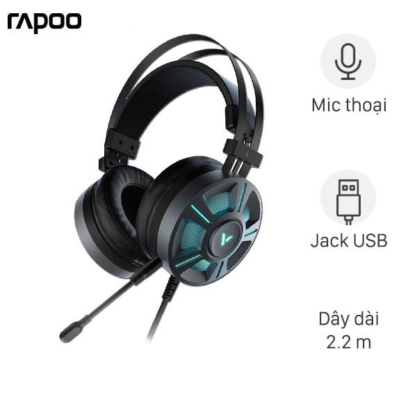 Tai nghe chụp tai Gaming 7.1 Rapoo VH510 Đen