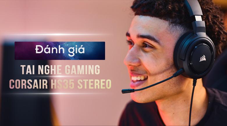Tai nghe Chụp Tai Gaming Corsair HS35 Stereo Carbon