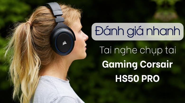 Tai nghe Chụp Tai Gaming Corsair HS50 PRO Stereo Carbon