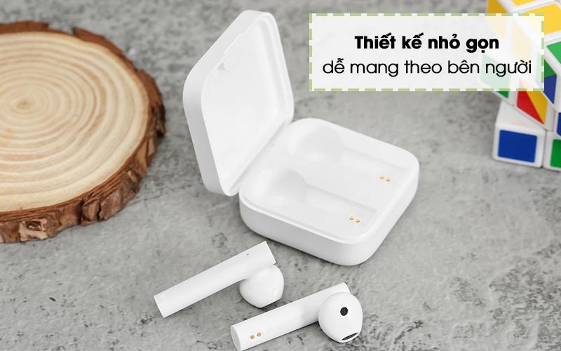 Tai nghe Bluetooth TWS Earphones 2 Basic Xiaomi BHR4089GL Trắng - Thiết kế