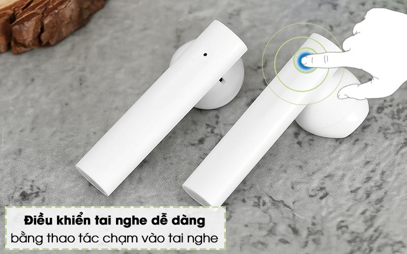 Tai nghe Bluetooth TWS Earphones 2 Basic Xiaomi BHR4089GL Trắng - Điều khiển
