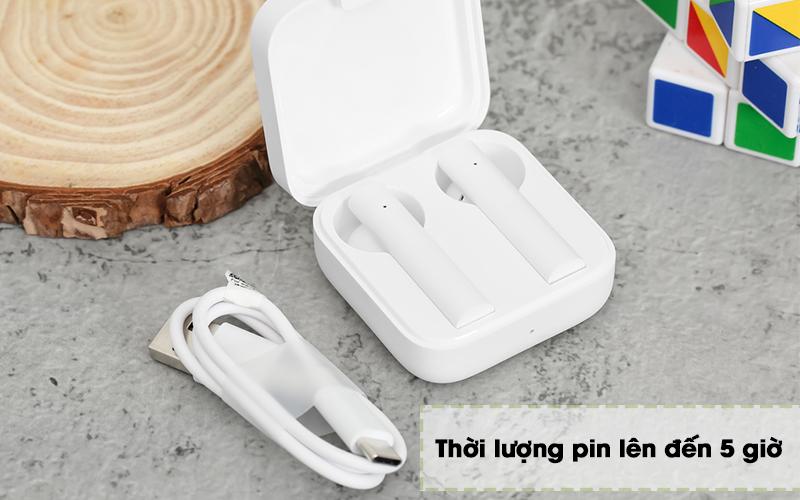 Tai nghe Bluetooth TWS Earphones 2 Basic Xiaomi BHR4089GL Trắng - Pin
