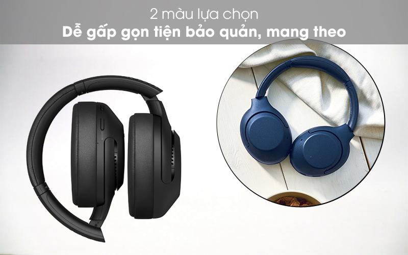Gấp gọn tiện dụng - Tai nghe chụp tai Bluetooth Sony WH-XB900N