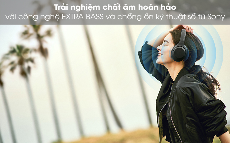 Âm thanh ấn tượng - Tai nghe chụp tai Bluetooth Sony WH-XB900N