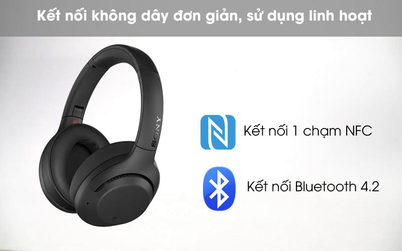 Kết nối không dây - Tai nghe chụp tai Bluetooth Sony WH-XB900N