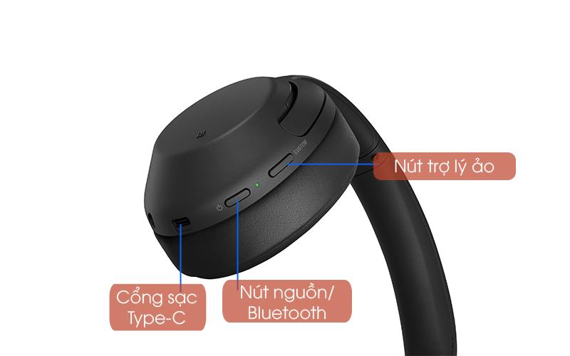 Nút chức năng - Tai nghe chụp tai Bluetooth Sony WH-XB900N