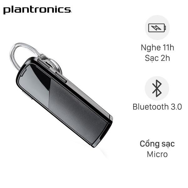 Tai nghe Bluetooth 1 Bên Plantronics Explorer 80 Sable Xám