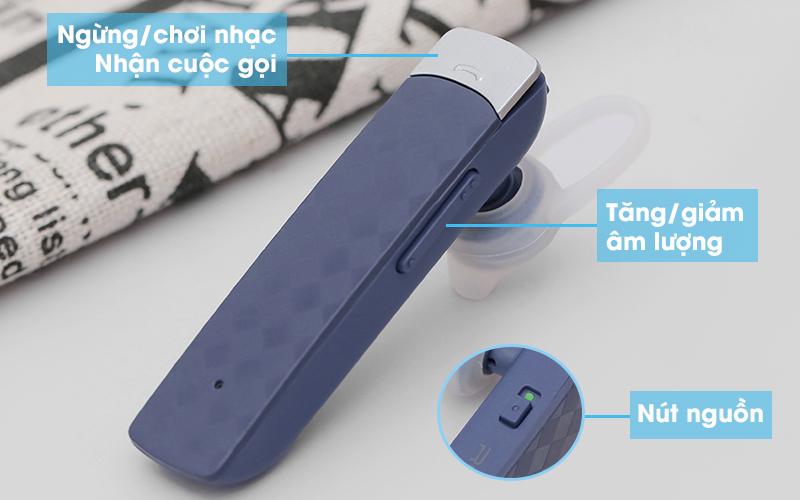 Tai nghe Bluetooth Roman R552X Xanh - Trang bị 3 phím điều khiển dễ dùng