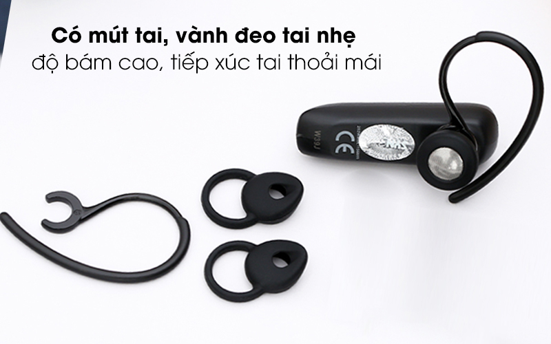 Tai nghe Bluetooth Jabra Talk 5 Đen - Có đệm, vành đeo tai nhẹ êm