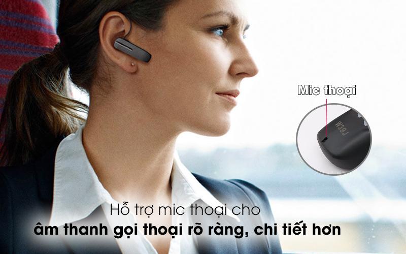 Tai nghe Bluetooth Jabra Talk 5 Đen - Hỗ trợ mic thoại cho âm thanh gọi thoại rõ ràng, chi tiết hơn