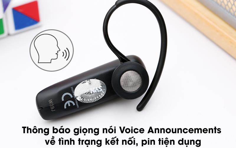 Tai nghe Bluetooth Jabra Talk 5 Đen - Thông báo giọng nói Voice Announcements