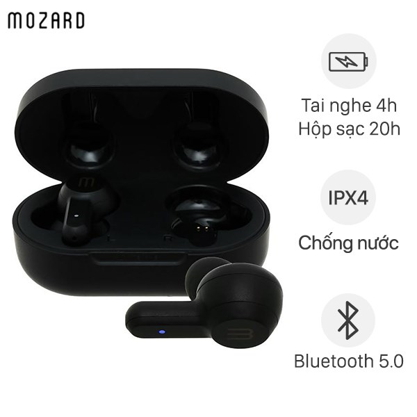 Tai nghe Bluetooth True Wireless Mozard Air 3 Đen