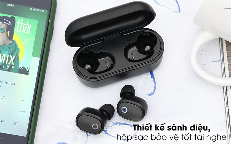 Tai nghe Bluetooth True Wireless Mozard TS13 Đen - Thiết kế gọn đẹp