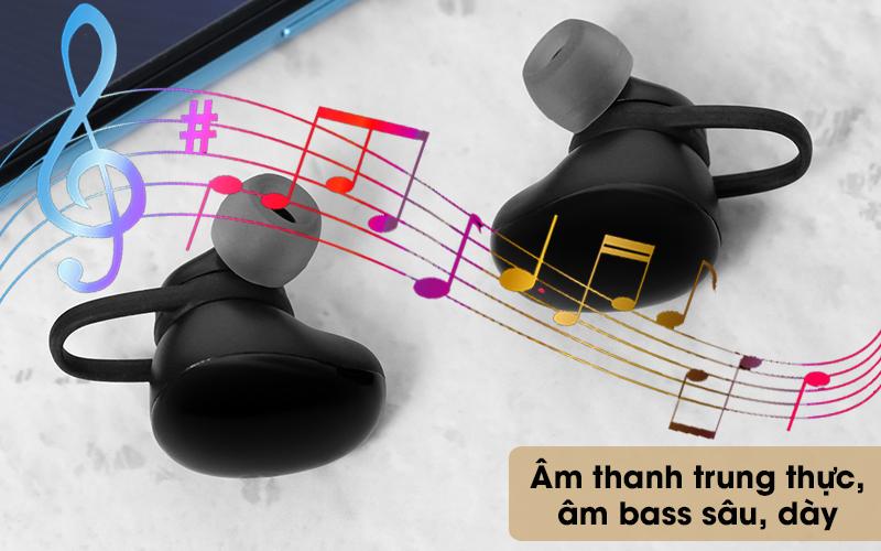 Tai nghe Bluetooth True Wireless Mozard TS11 mini - Chất âm trung thực, cuốn hút, âm trầm sâu, dày