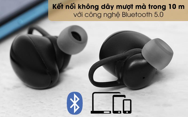 Tai nghe Bluetooth True Wireless Mozard TS11 mini - Đường truyền kết nối Bluetooth 5.0 rộng, mượt mà