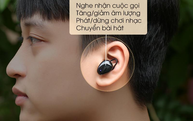 Tai nghe Bluetooth True Wireless Mozard TS11 mini - Phím điều khiển cảm ứng tai nghe Bluetooth sử dụng đơn giản
