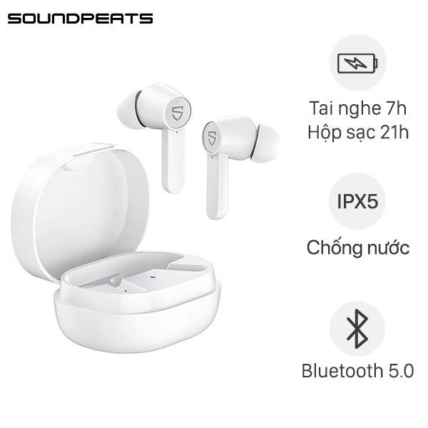 Tai nghe Bluetooth True Wireless Soundpeats Q Trắng