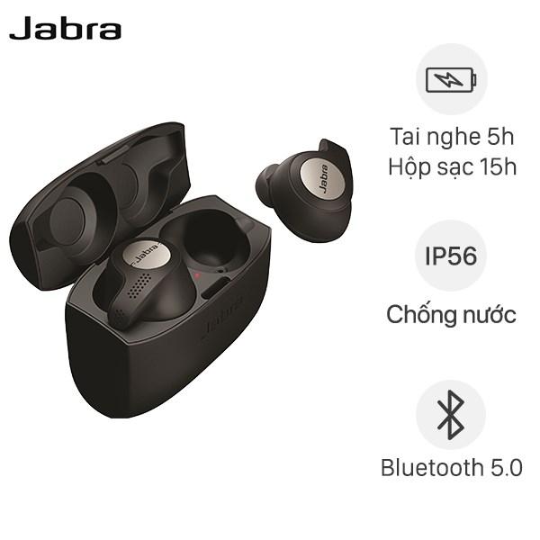 Tai nghe Bluetooth True Wireless Jabra Elite Active 65T Đen Titanum