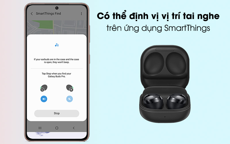 Tai nghe Bluetooth True Wireless Samsung Buds Pro - ứng dụng SmartThings