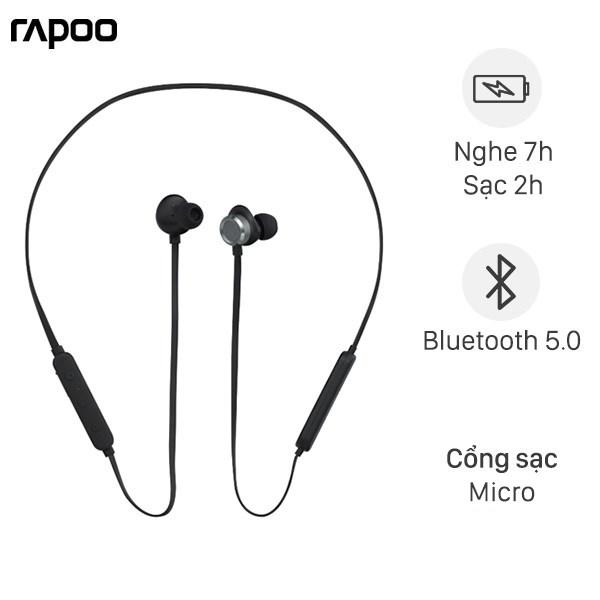Tai nghe Bluetooth Rapoo S150 Đen
