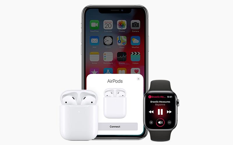 Tai nghe Bluetooth AirPods 2 Apple MV7N2 Trắng kết nối với hầu hết các thiết bị Apple