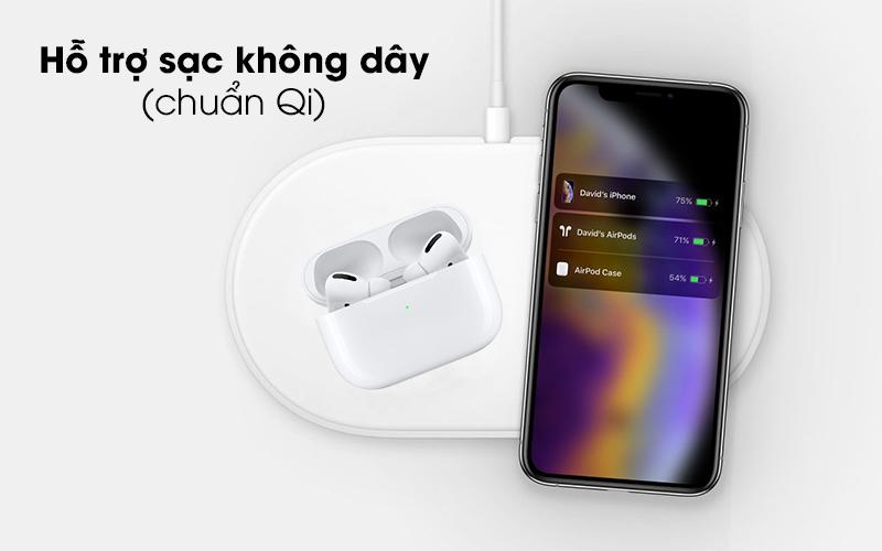Hỗ trợ sạc không dây chuẩn Qi - Tai nghe Bluetooth Airpods Pro Apple