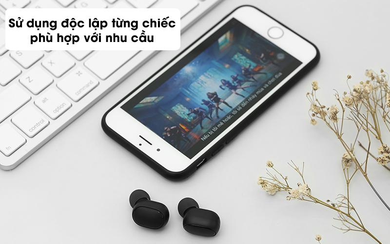 Tai nghe Bluetooth True Wireless Xiaomi Earbuds Basic 2 BHR4272GL- Dùng riêng lẻ