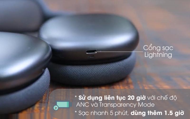 Pin khỏe - Tai nghe chụp tai Bluetooth AirPods Max Apple MGYH3/ MGYJ3/ MGYL3