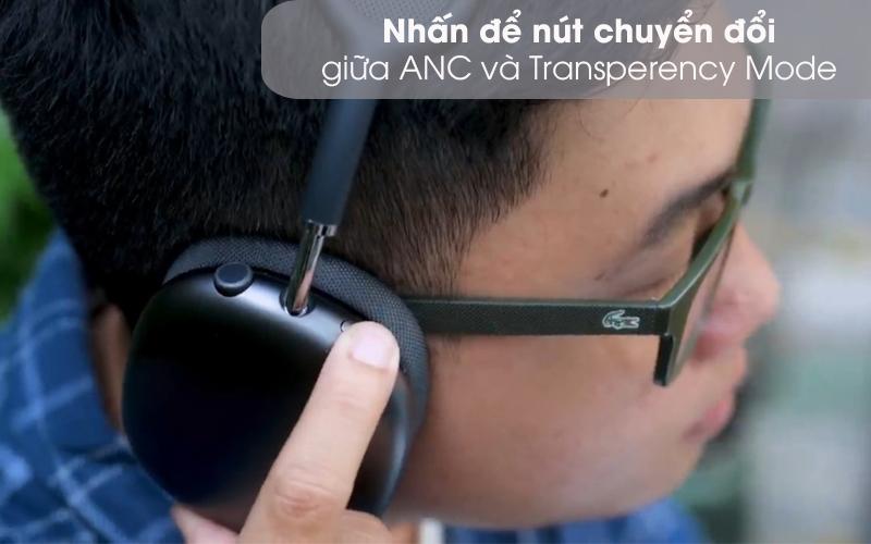 Chuyển đổi chế độ chống ồn - Tai nghe chụp tai Bluetooth AirPods Max Apple MGYH3/ MGYJ3/ MGYL3