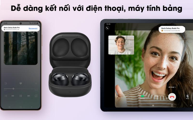Tai nghe Bluetooth True Wireless Galaxy Buds Pro Bạc - Kết nối Bluetooth 5.0