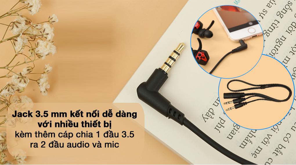 Jack 3.5 - Tai nghe Có Dây EP Gaming Rapoo VM150