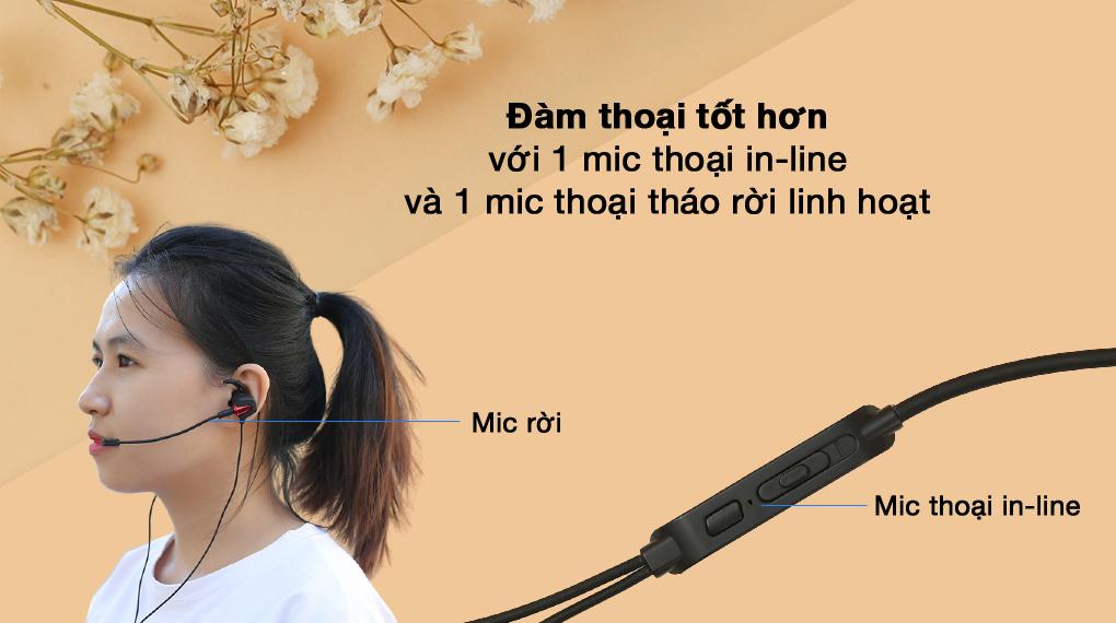 2 mic thoại - Tai nghe Có Dây EP Gaming Rapoo VM150
