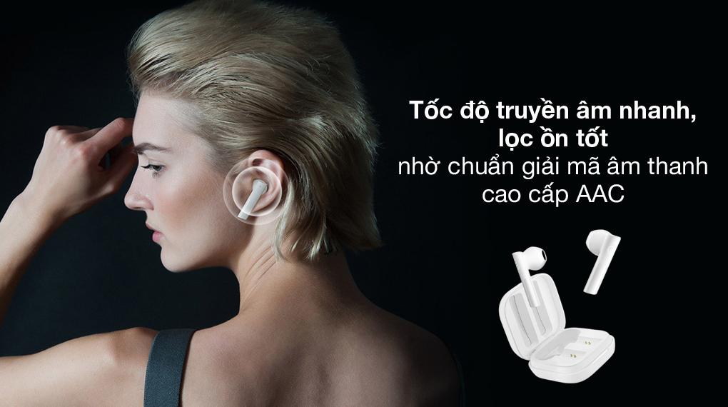 Chuẩn âm thanh ACC - Tai nghe Bluetooth TWS Haylou GT6 Trắng