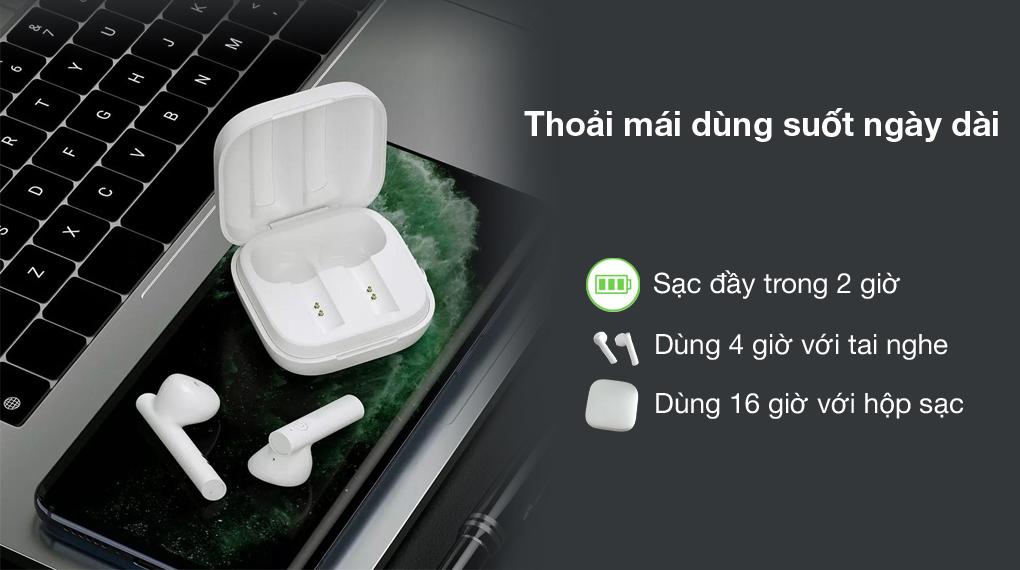 Pin khỏe - Tai nghe Bluetooth TWS Haylou GT6 Trắng