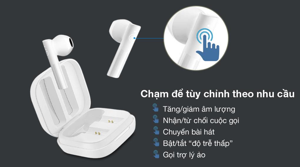 Dễ dùng - Tai nghe Bluetooth TWS Haylou GT6 Trắng