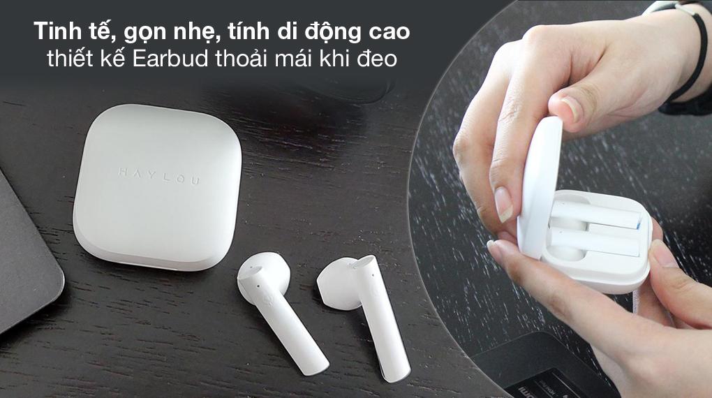 Nhỏ gọn, tinh tế - Tai nghe Bluetooth TWS Haylou GT6 Trắng