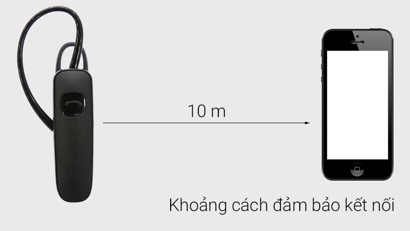Tai nghe Bluetooth Plantronics ML15 với khoảng cách giúp tai nghe hoạt động hiệu quả