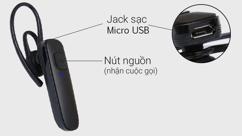 Vị trí các nút ấn trên tai nghe Bluetooth Plantronics ML15