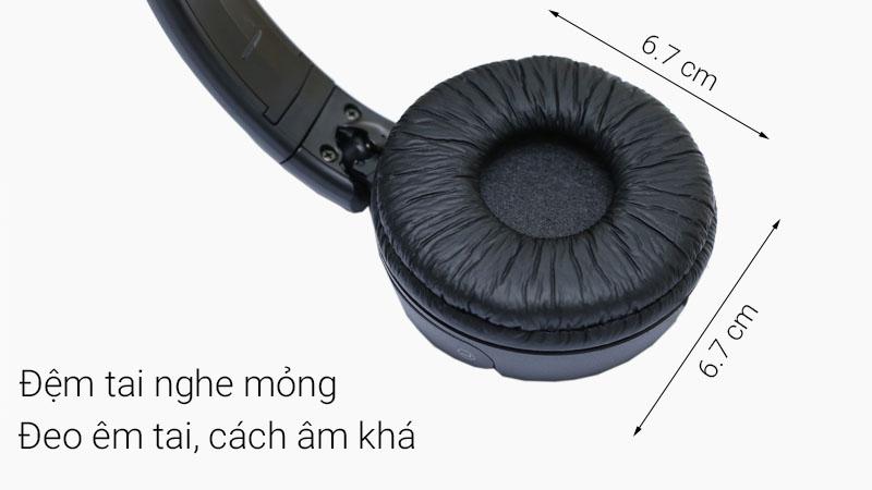 Tai nghe chụp tai Sony MDR - ZX110AP và kích thước tai nghe