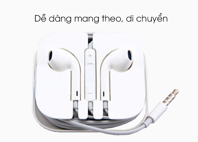 Tai nghe nhét trong Apple MD827FE-A - Thuận tiện mang theo