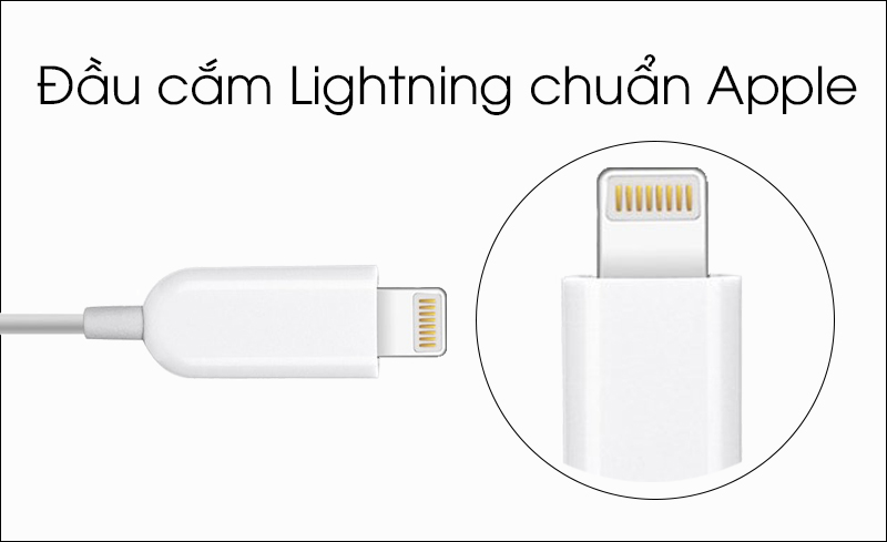 Tai nghe EarPods cổng Lightning Apple MMTN2 - Tai nghe tương thích với máy tính bảng, điện thoại Apple