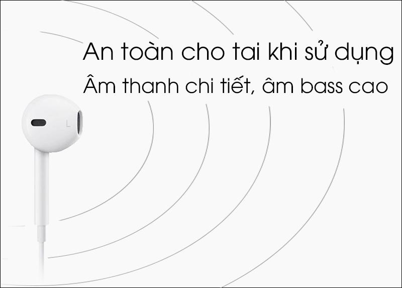 Tai nghe EarPods cổng Lightning Apple MMTN2 - Đường truyền âm thanh ổn định, chi tiết