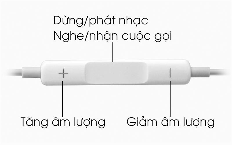 Tai nghe EarPods cổng Lightning Apple MMTN2 - Tích hợp phím bấm trên tai nghe